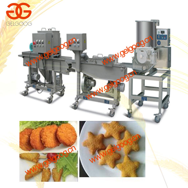 chicken nugget production line/ chicken nugget making line/ chicken nugget machine