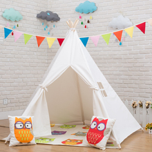 Six colors children play teepee tent