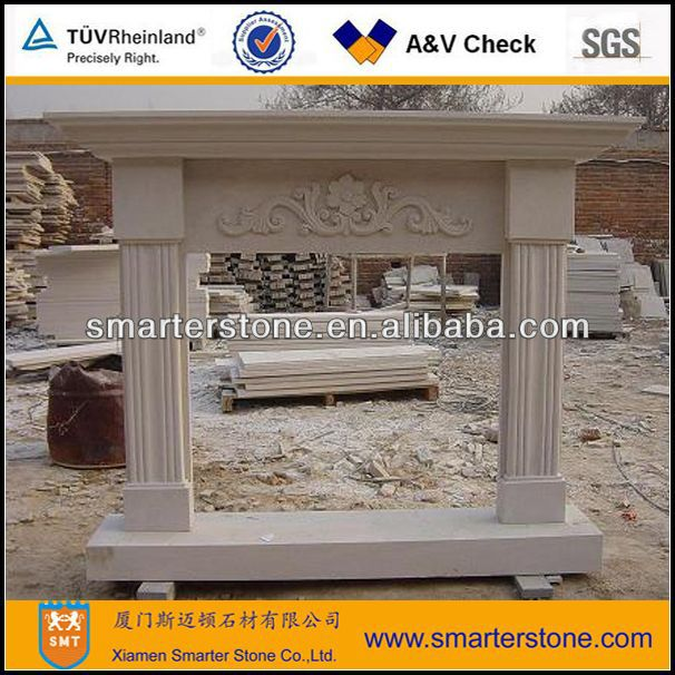 White Sandstone Fireplaces Mantel