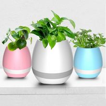 Christmas gift colorful smart music flower pot with led night light with good speaker