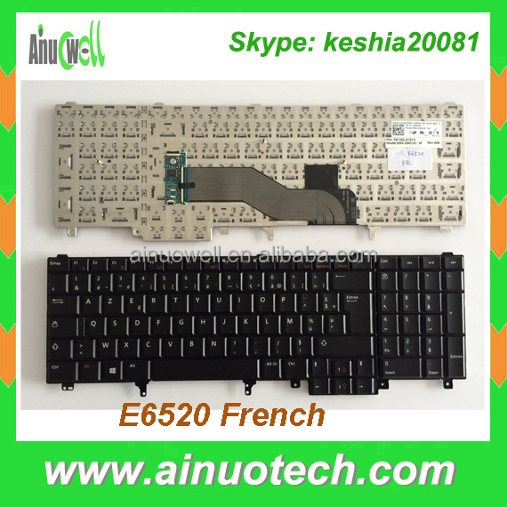 Laptop Keyboard For Dell E6520 E5520 M4800 M6800 E5530 E6530 M4700 M6700 French Layout Laptop Keyboard US UK IT GR LA AR SP RU