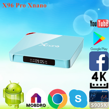 New brand 2017 X96 Pro Xnano S905X 2g 16g media player 4k with CE certificate Android 6.0 TV Box