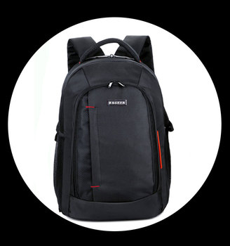 2017 Wholesale High Quality Men'S Backpack For Laptop,1680D 3 Compartment Black Laptop Backpack Fashion