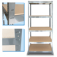 Customized steel metal slotted angle shelves for warehouse rack