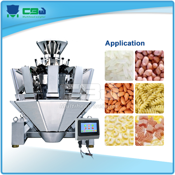 Raisin, seeds, crisps, mixed nuts, popcorn Packing Machine with multihead weigher