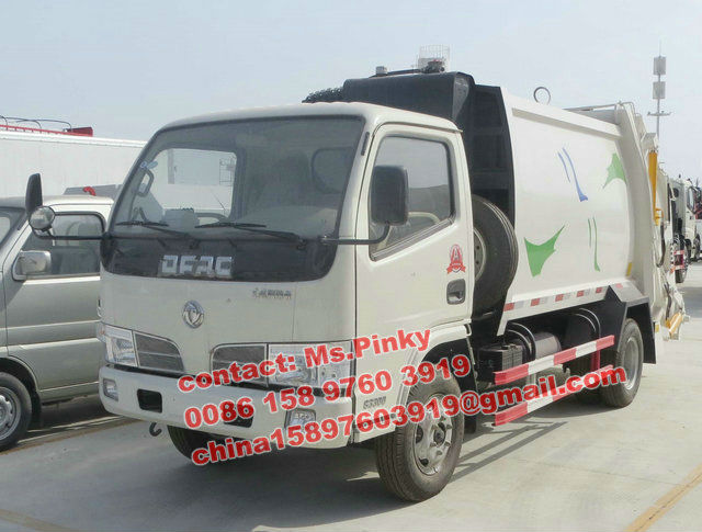 Dongfeng 5000Lts Compressible Garbage Truck