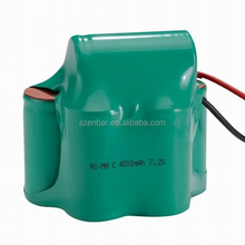 7.2V 4000mAh Ni-mh C rechargeable battery pack for power caddy