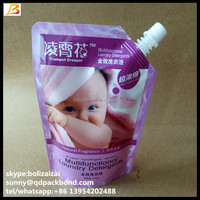 Custom Design Reusable Strong Leakage Proof Stand Up Detergent Spout Pouch Manufacturer