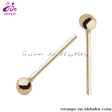 20G Nose Stud with 2mm Ball Top. 6mm Wearable area