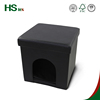 HStex black leather foldable ottoman pet house for dog