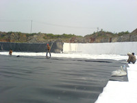 Smooth Waterproof HDPE Geomembrane HDPE Plastic Film roll from LUKE