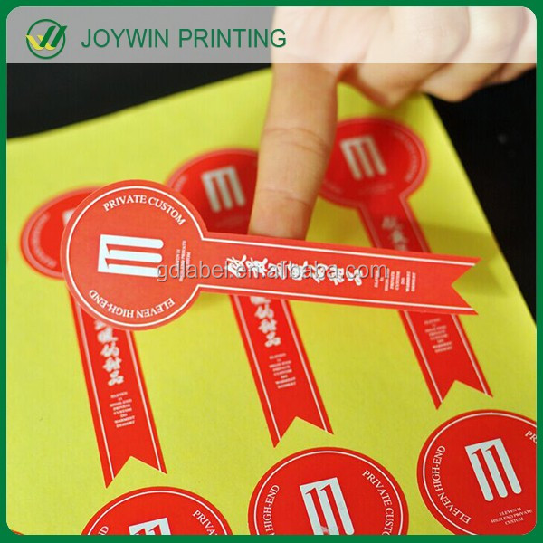 Wholesale semi gloss adhesive paper label sticker,custom printing roll logo stickers bottle labels