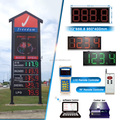 EUREKA 18'' 888.8 LED GAS PRICE SIGN/price carbon dioxide gas/7 segment led display gas price