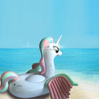 giant summer inflatable unicorn swimming pool float raft