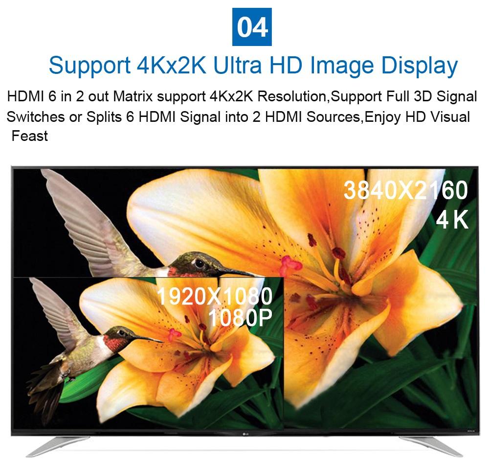 EMK 6x2 HDMI 1.4V Matrix TV (11)