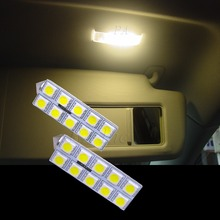 VW Car Tiguan Golf Touran Jetta 10 5050 LED Vanity Mirror Light 4500K OBC Free