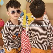 Wholesale children's boutique clothing custom t shirt pictures of long tops kids t shirt