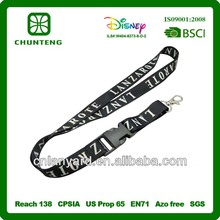 elastic woven lanyards with detachable lanyard clip no minimum order