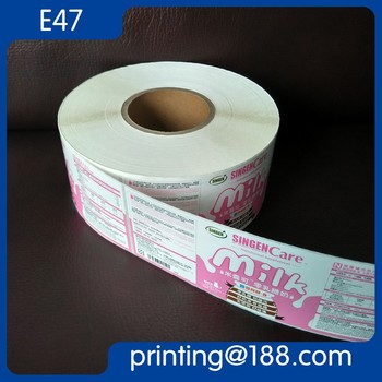 Custom Printed Roll Adhesive Bottle Sticker Label