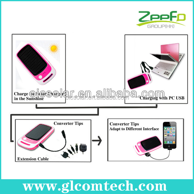 2014 shenzhen factory 2200mah solar aa battery charger with key chain