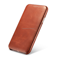 Strong Magnet Genuine Leather Flip Case Cover For Iphone X,For Iphone X Flip Case