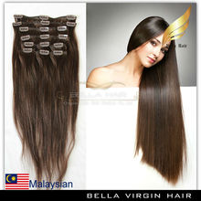 2014 Top quality factory price cheap white clip in hair extension silky straight