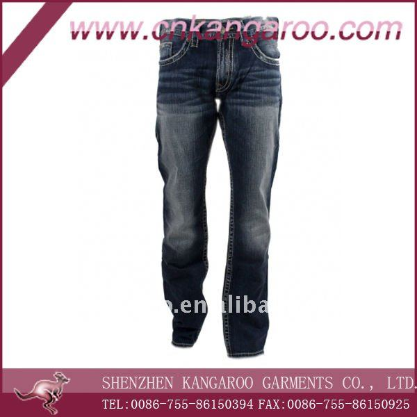 2017 Mens 98%cotton 2%spandex woven fashion jeans