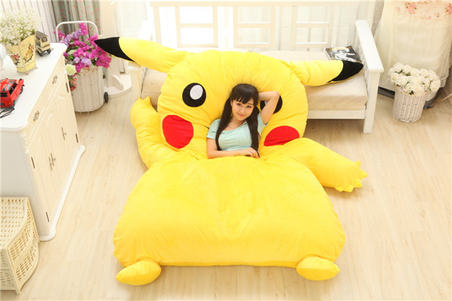 Luxury plush pet bed Comfortable pet dog beds pikachu plush toys bed for girls gift