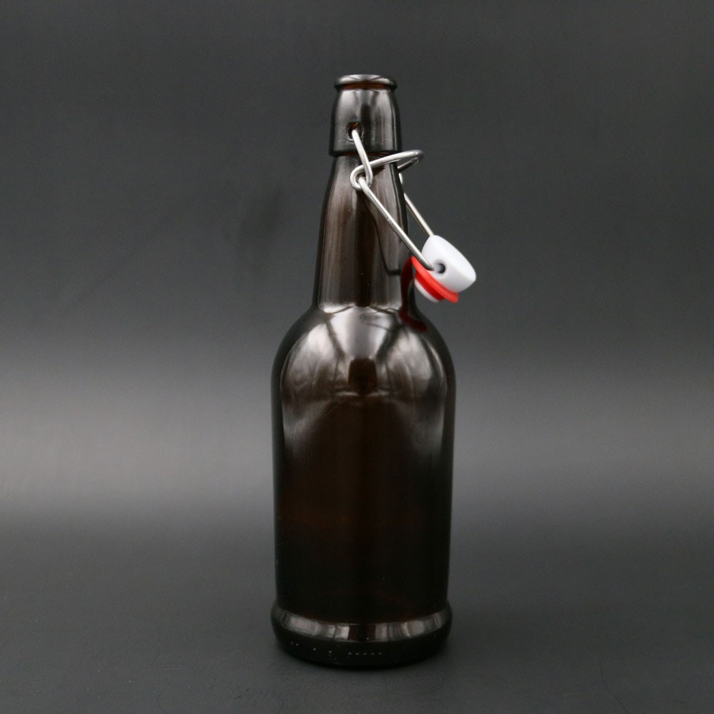 empty Amber beer bottle 330 ml 500 ml 650 ml 1000 ml with swing top