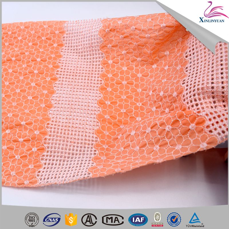 2018 Embroidery cotton lace fabric with holes