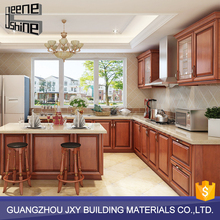 Turkey cherry solid wood kitchen cabinet,solid wood kitchen cabinet wood cupboard design