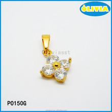 fast moving items from China gold plated natural stone pendant