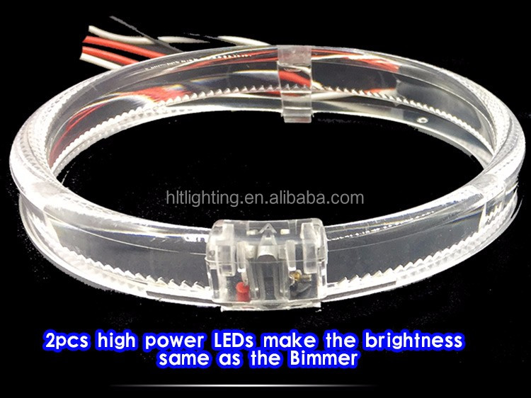Super Bright 2pcs High Power LEDs 80mm Angel Eyes Replace 2.5 Inch Projector Lens Halo Ring