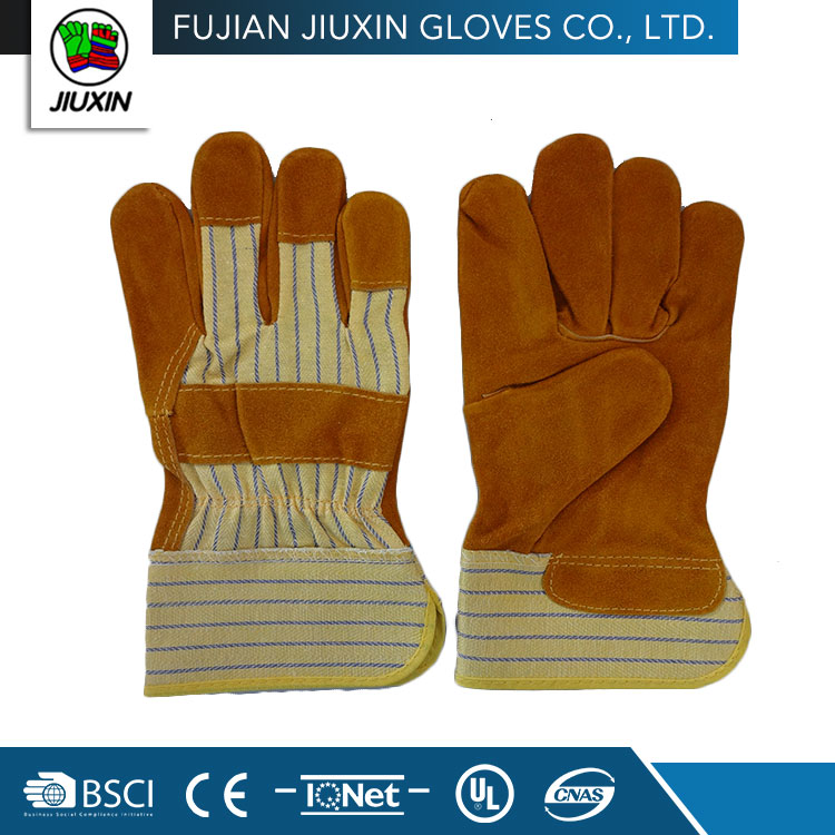 wholesale non disposable working cheap pig leather gloves