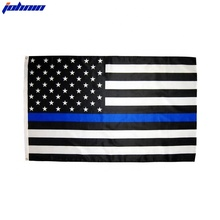 Wholesale Stock 3x5 Fts American Thin Blue Line Police Flag Banner Of USA