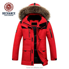 Men's Fashion Winter Long Thick Fur Hooded Down Jacket Men Wholesale Clothing