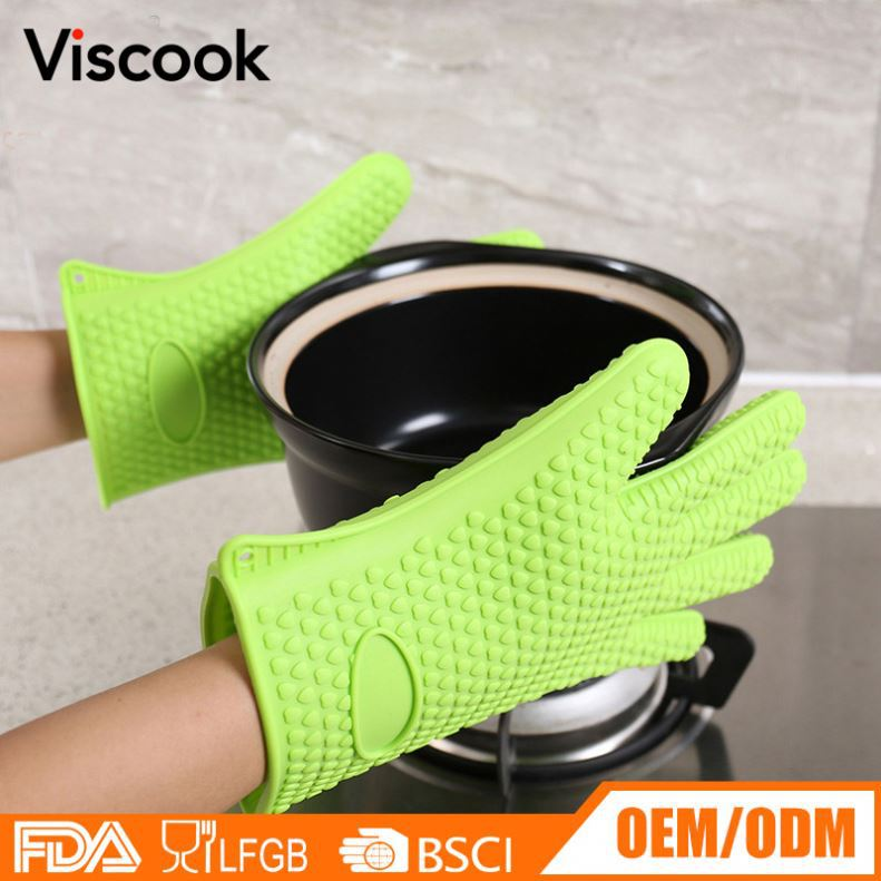 China Silicone Manufacturer Most Popular Kitchen Silicone Oven Mitts Glove