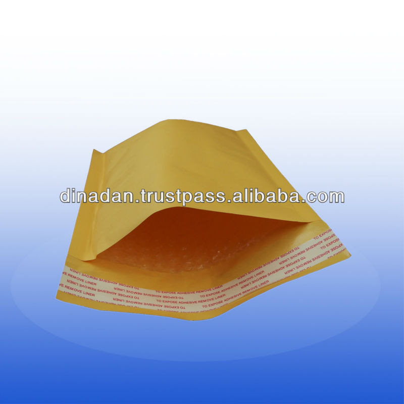 Sealing and durable kraft bubble envelope