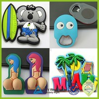 Custom made promotional gift rubber 3d pvc fridge magnet