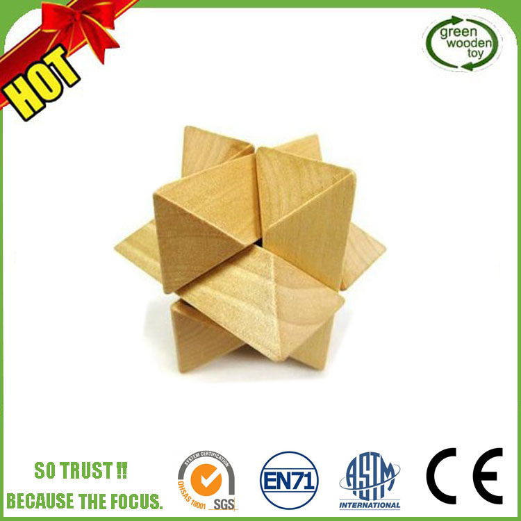 luckstar(tm) intellectual puzzle wooden,puzzle wood iq,solid wood puzzle