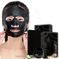 Bamboo Charcoal Oil-control Black Facial Mask Deep Cleansing Face Mask For Men