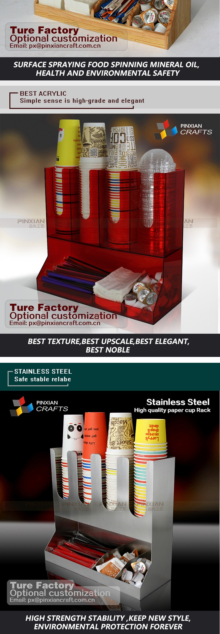Wholesale made in china Acrylic Coffee paper Cup Dispenser ...