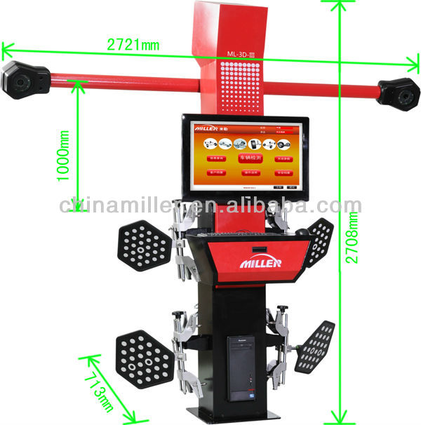MILLER intelligent 3D wheel alingment equipment ,movable beam,focusing the target automatically(ce certificate)