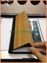 Newest Wood+PU Leather Case for iPad air