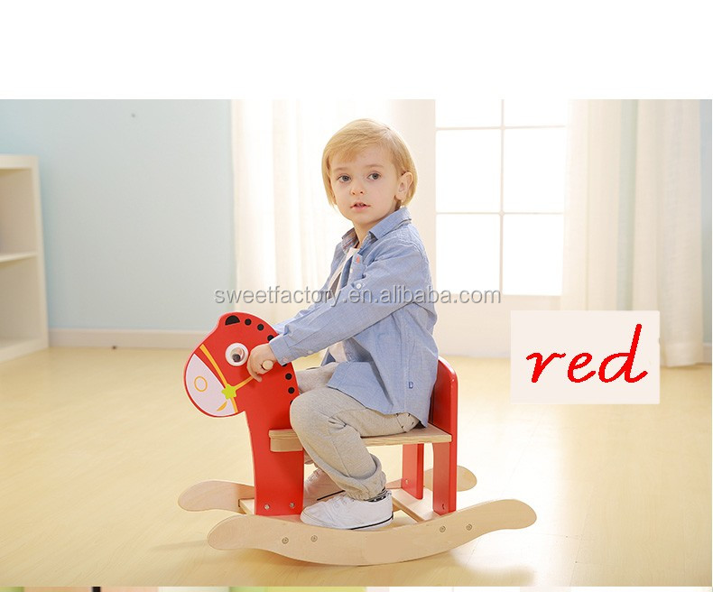 baby horse solid wood Child Carousel Toys Wooden balanced rocking horse for kids