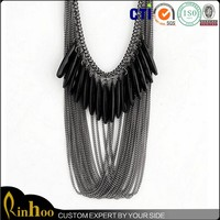 Multilayer long tassel necklace costume jewellery of garments and accessories