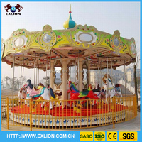 2014 newdeveloped mechanical merry gp round carousel/mini carousel