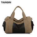 Fashion Unisex Canvas PU Outdoor Sports Travel Bag Hiking Handbag