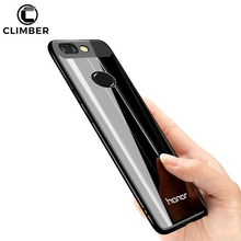 Slim Electroplating Clear Transparent TPU Cover Phone Case For Huawei Honor Enjoy 7 Plus Note 8 9 V8 V9 Play 6X 7X TPU Case
