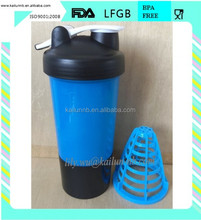 Popular promotional gift of BPA FREE 500ml PP shaker bottle with loop for nutrition